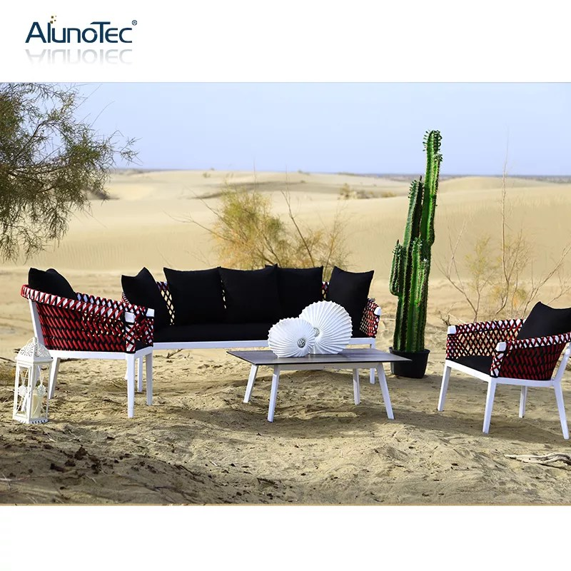 4pcs outdoor patio furniture woven rope