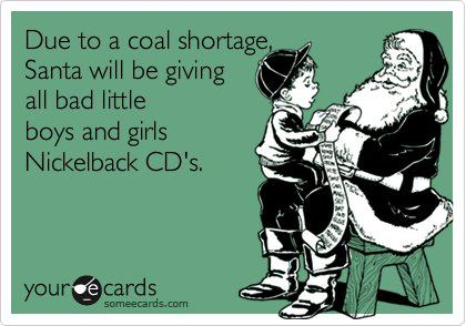 Coal shortage ecard-Santa claus