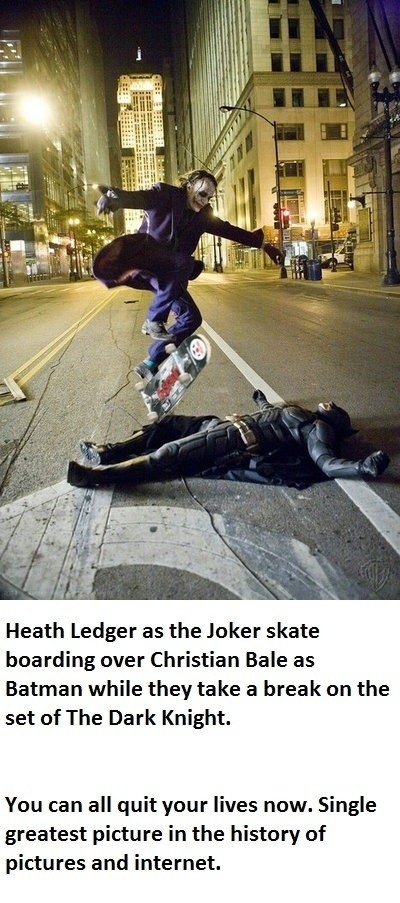 Batman and joker awesome skateboard picture