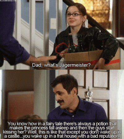 What Jager really is - girl asking dad what jagermeister is