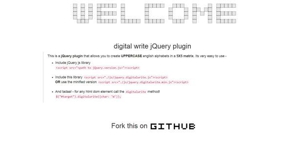 digital write jquery