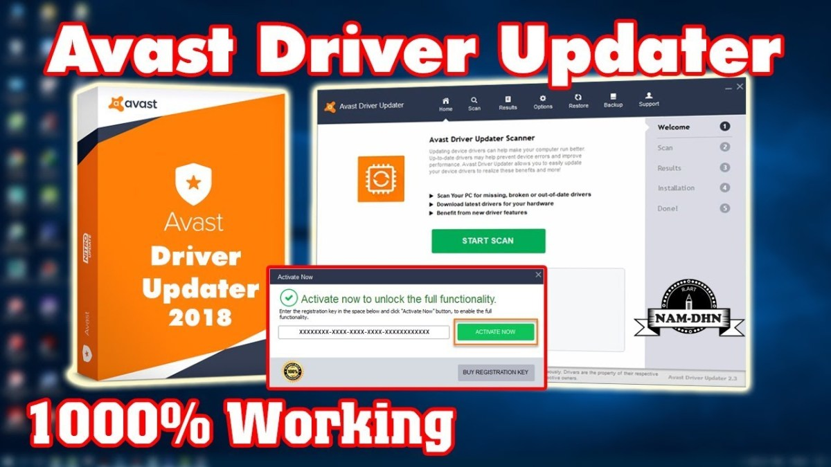 Avast Driver Updater v2.5 Serial Key Official 100% Working 2019