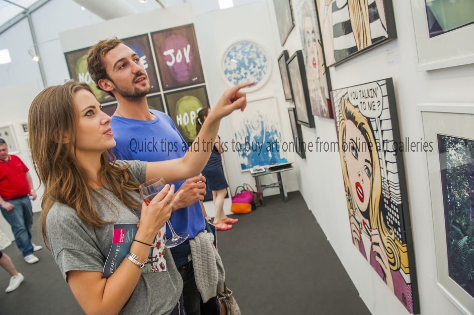 Quick tips and tricks to buy art online from online art galleries
