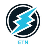 Vector illustration crypto coin icon on isolated white background Electroneum (ETN). Name of the crypto currency and the short trade name on the exchange. Digital currency
