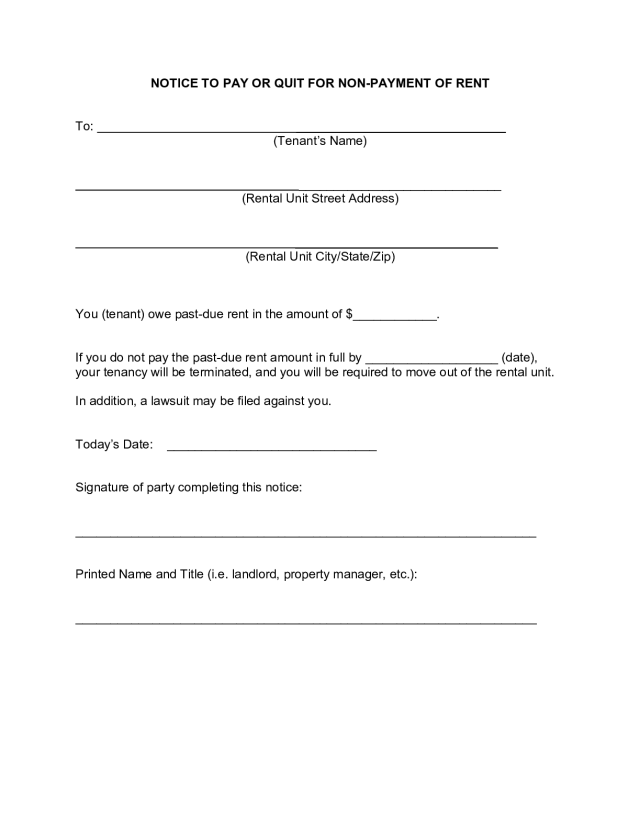FREE Tennessee Eviction Notice Form [8]: ALL Legal Reasons