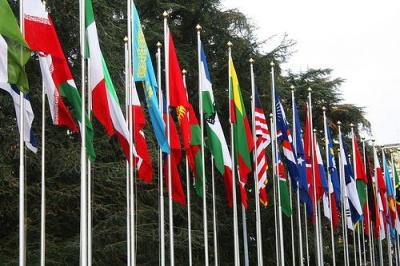 How many of these flags represent countries we are in some kind of war with? Photo by Radar Communications.