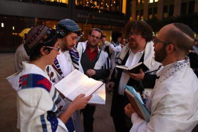 Jewish worshippers at Occupy Wall Street