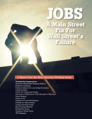 A Main Street Fix to Wall Street's Failure