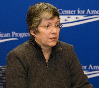 Local police units are under Janet Napolitano's jurisdiction. Photo by Center for American Progress.