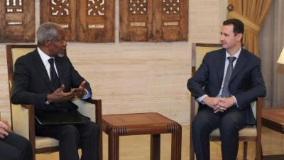 UN envoy Kofi Annan meets with Syrian leader Bashar al-Assad