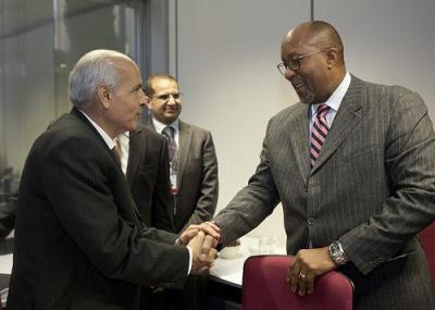U.S. Trade Representative Ron Kirk with Egyptian Trade Minister Dr. Mahmoud Eisa. Photo by Eric Bridiers.