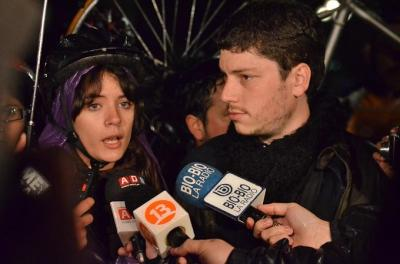 photo of Camila Vallejo and Noam Titelman