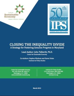 Closing the Inequality Divide - Geniune Progress - Maryland