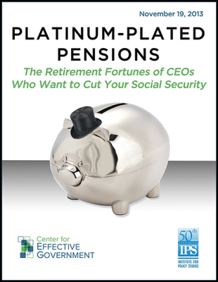 Platinum-Plated Pensions Report Cover