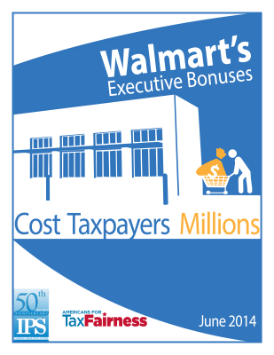 Walmart's Executive Bonuses Cost Taxpayers Millions Report Cover