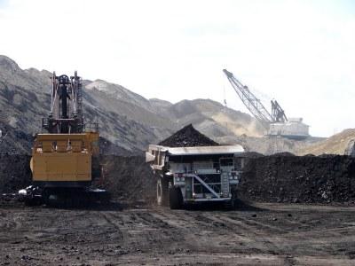 Coal mining trucks