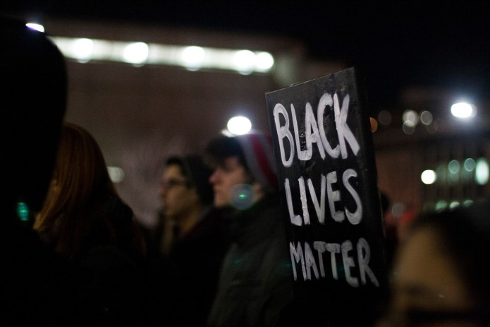Black Lives Matter protest sign
