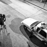 Baltimore police car in street