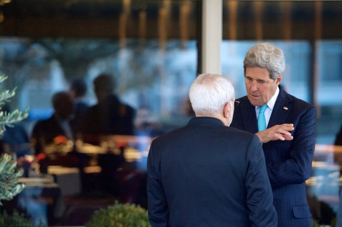 U.S. Secretary of State John Kerry with Iranian Foreign Minister Mohammad Javad Zarif (U.S. Department of State / Flickr)