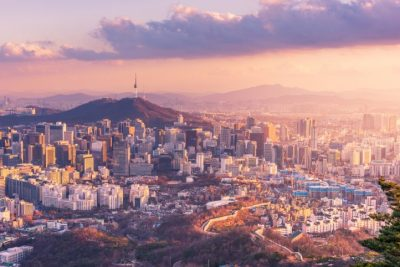 Korea-buildings-sunset
