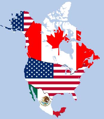 NAFTA-map