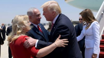 Donald Trump meets Benjamin Netanyahu in Israel