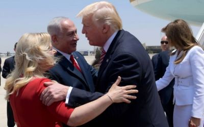 Donald Trump meets Benjamin Netanyahu in Israel