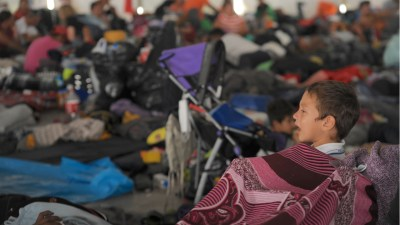A migrant shelter in Mexico City