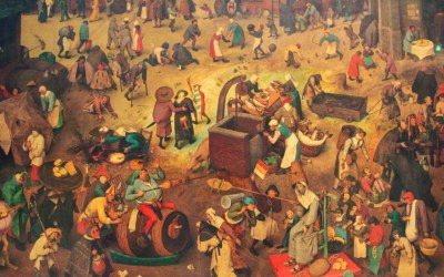 Flemish Renaissance Painting (1567) depicting The Fight Between Carnival and Lent