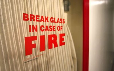 break glass in case of fire