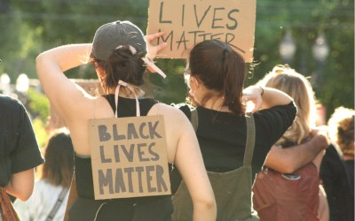 protesters rally in support of Black Lives Matter