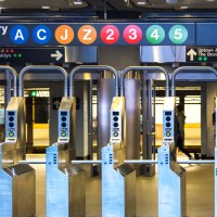 fare evasion - an empty train station in new york