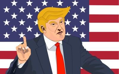 illustration of trump talking and waving his finger