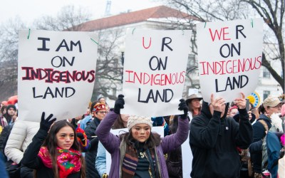 indigenous people at a protest