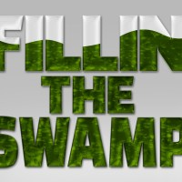textual graphic that reads fillin' the swamp in reference to donald trump