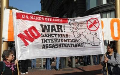 us hands off iran - no sanctions, no war, no assassinations