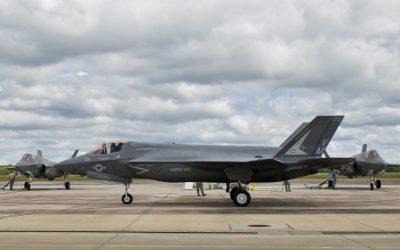 F-35 fighter jet to depict president joe biden's increased pentagon budget and militarism