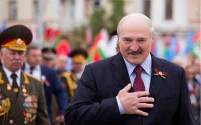 President of the Republic of Belarus Alexander Lukashenko speaks to people