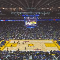 nba team golden state warriors playing against the toronto raptors