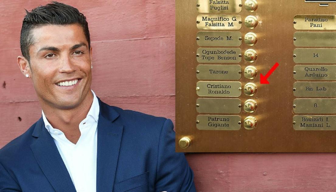 C Cristiano Ronaldo A Torino spunta il suo nome su un citofono  superEva