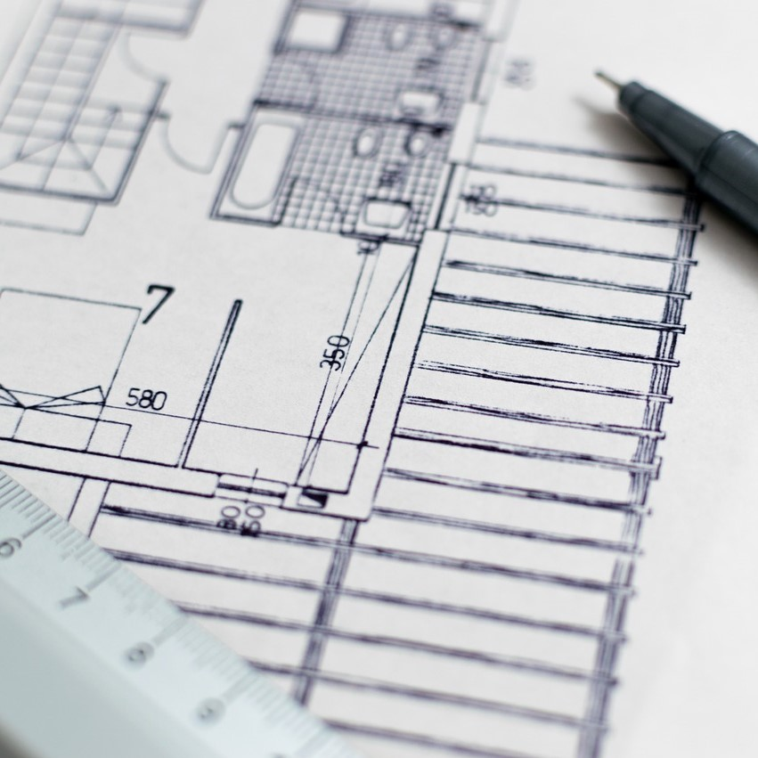 Planning permission, architect's drawings