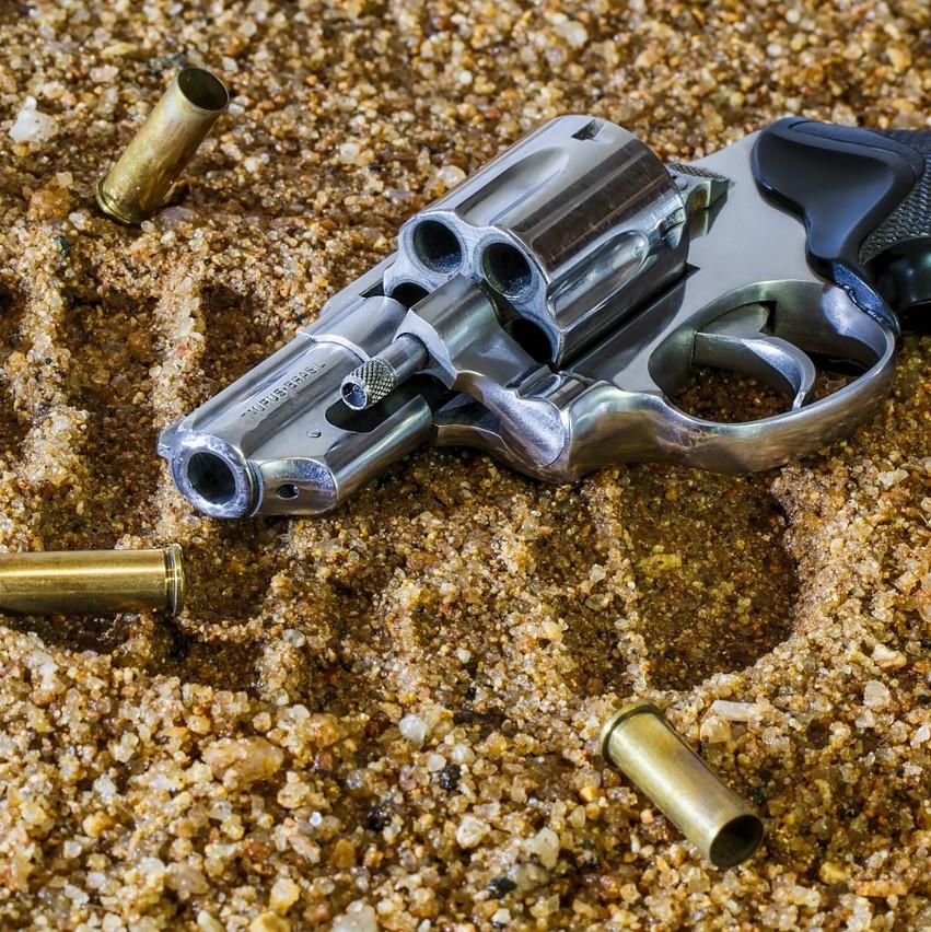 Criminal law, used revolver, evidence, footprint