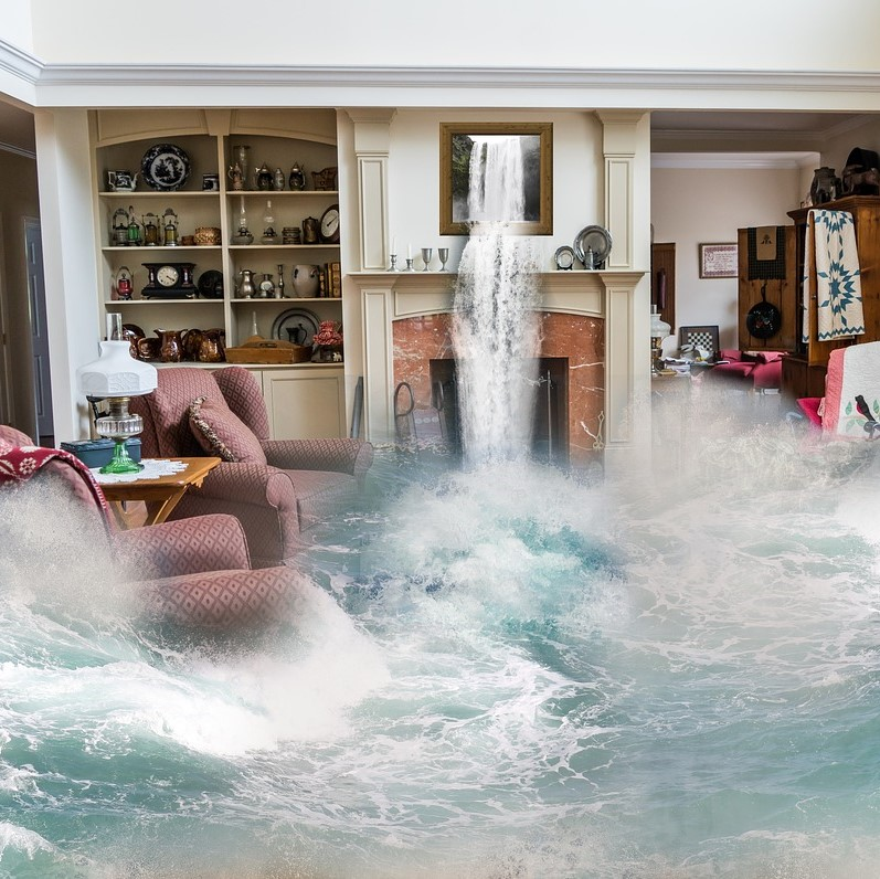 loss of amenity, living room flood