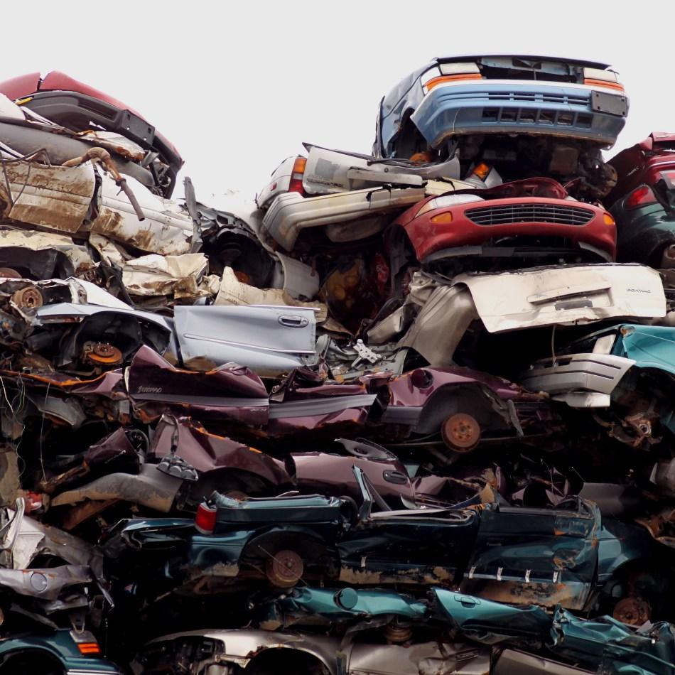 Disposed cars
