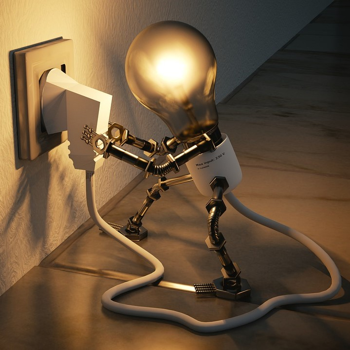 Subject to contract, light bulb