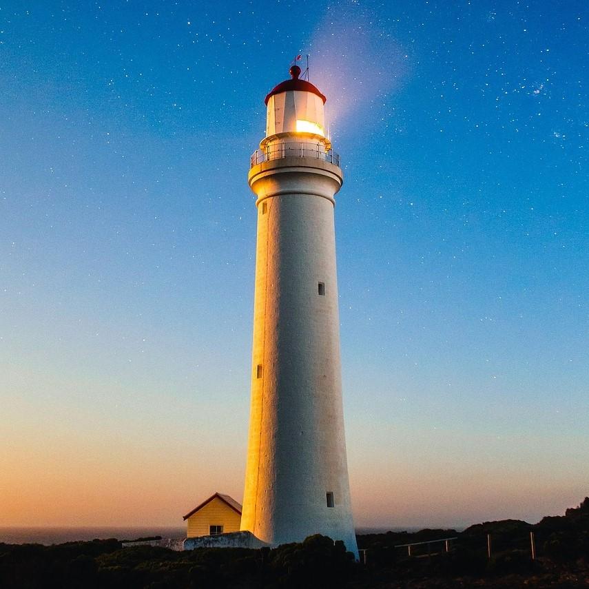 Instruction, warning, lighthouse