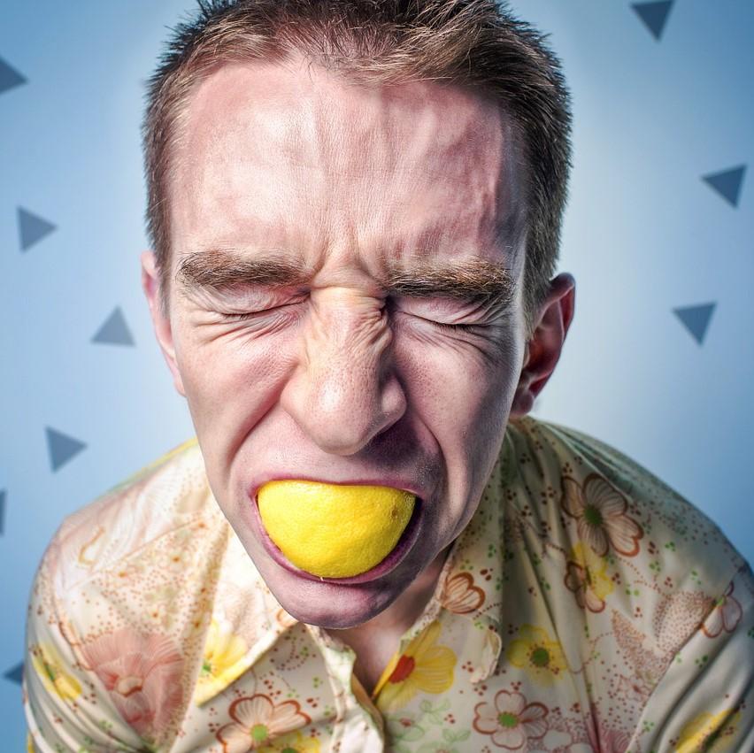outrageous behaviour, lemon eating