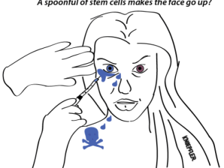 Stem cell facelift comic