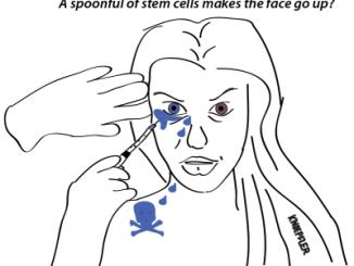 Stem cell facelift comic