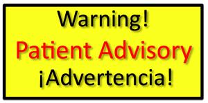 warning patient advisory sign, smuggling stem cells